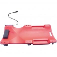 Лежак подкатной,пластмассовый с лампой TP-40-2