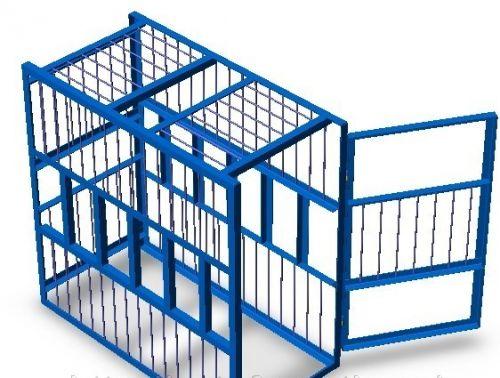 Клетка для накачки шин