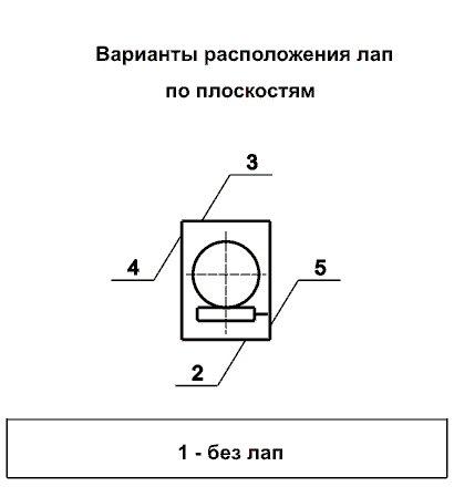 Ч80 Вариант распол. лап