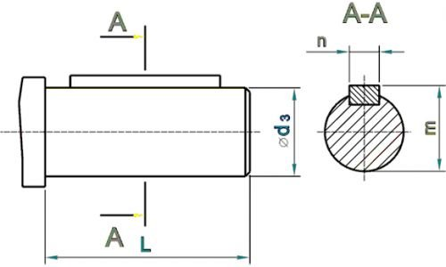 1МЦ2С Цилиндрич. вал